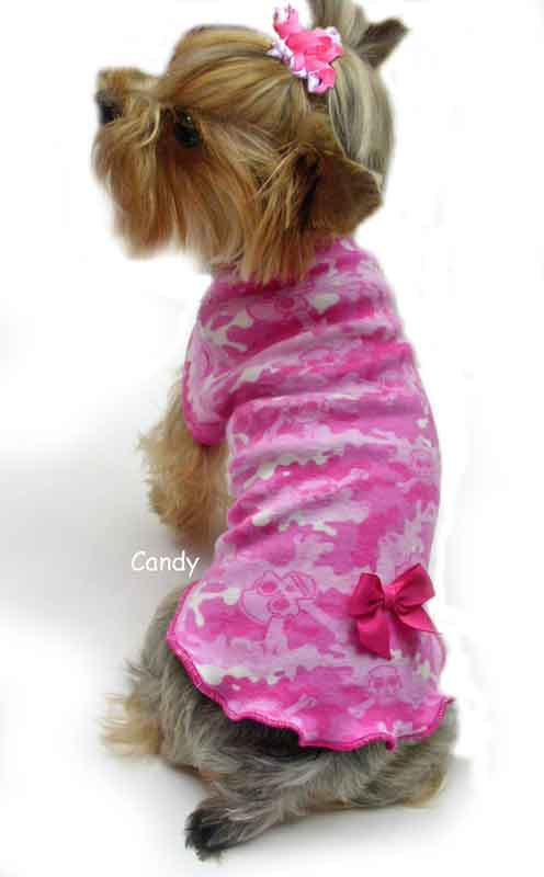 Pink Skulls Camo dog clothes