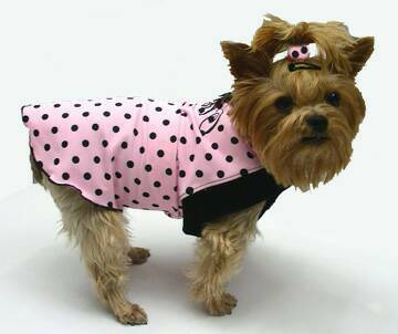 Pink with Tiny Black Polka Dots Girl Shirt
