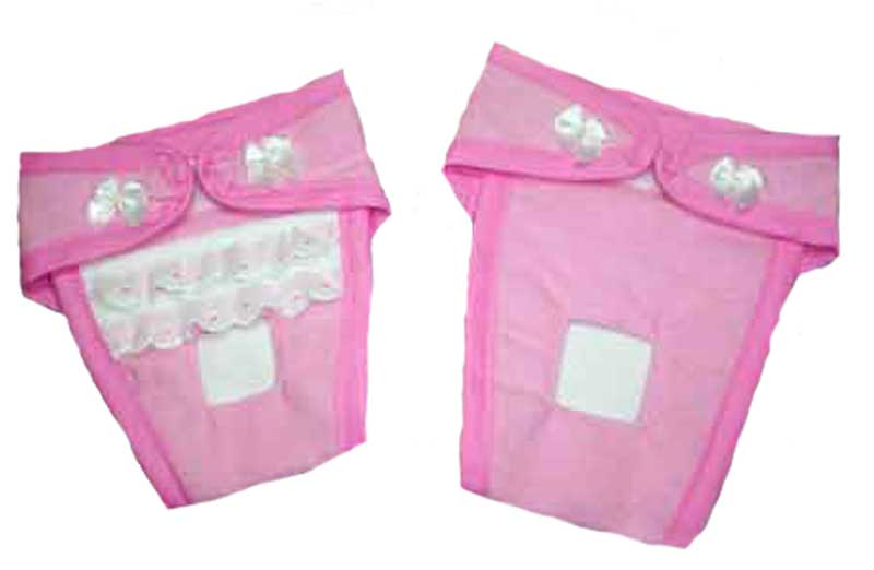 pink diapers
